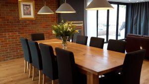 Bespoke oak dining table