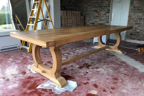 Bespoke table handmade for a Warwickshire client