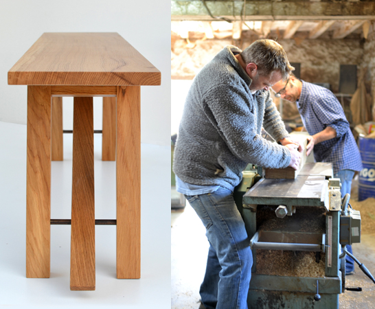 Handmade oak furniture france