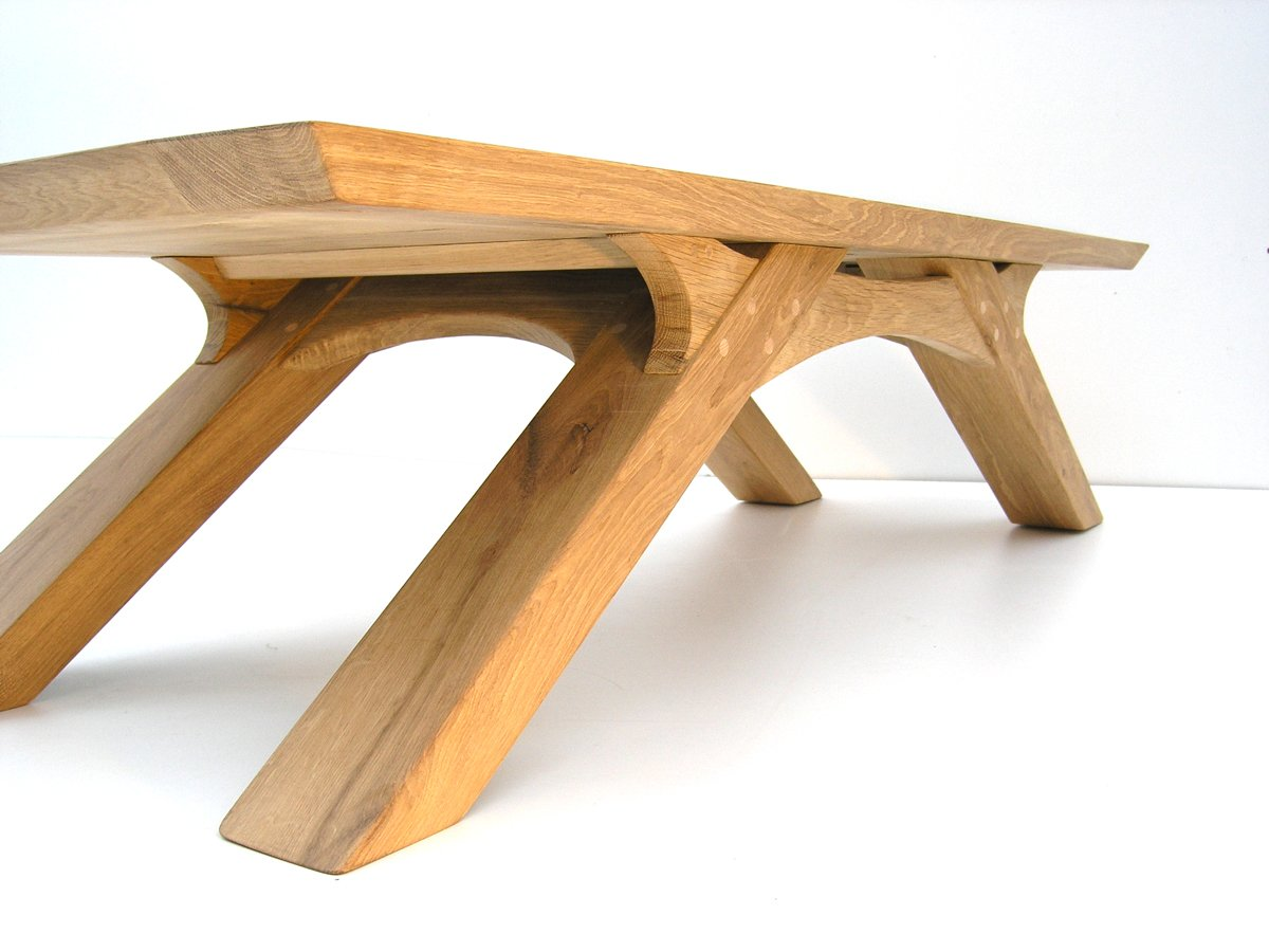 Oak Arch Leg Coffee Table Bespoke Makers