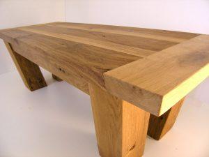 Two tone oak coffee table handmade