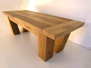 Handmade oak coffee table by Makers