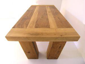 handmade two tone oak coffee table