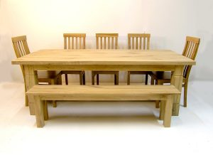 Large oak refectory table handmade