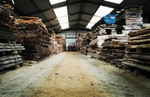 oak stacks at the wood yard