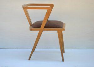 Bespoke oak zen dining chair