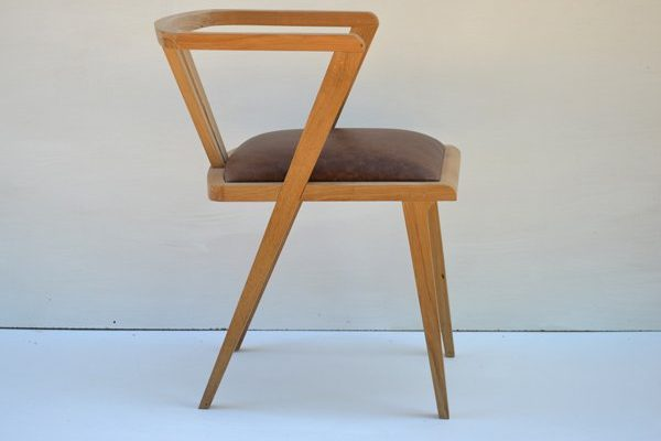 Bespoke oak zen dining chair