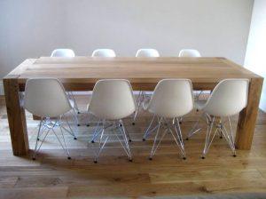 Contemporary oak dining table handmade