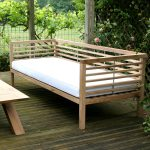Bespoke garden bench day bed with coffee table