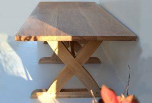 Crossed leg dining table bespoke