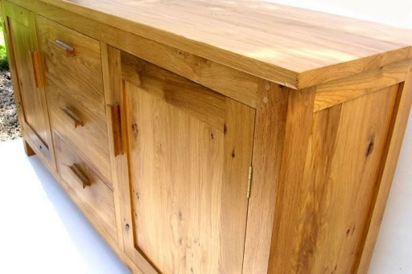 large bespoke oak sideboard