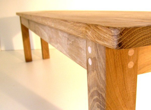 BESPOKE OAK DINING BENCH