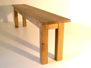 Bespoke oak dining bench