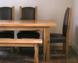 Bespoke oak dining table by Makers