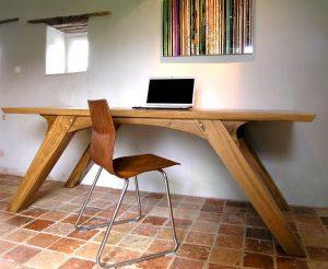 Bespoke oak office desk