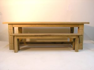 Bespoke refectory table and bench
