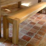 Contemporary Oak Dining Bench handmade