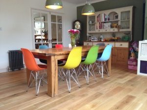 Bespoke oak dining table for a Hampshire client