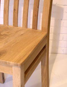 Oak High Back Dining Chair