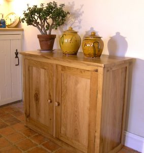 Small French oak sideboard