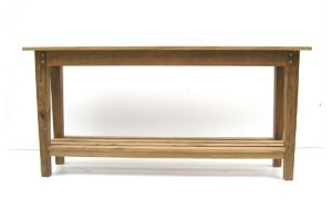 Simple oak console table by Makers