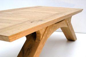 oak arch leg coffee table