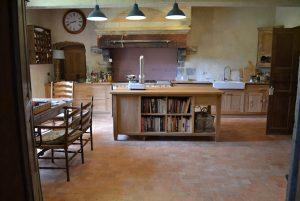 Bespoke oak kitchen island handmade for France