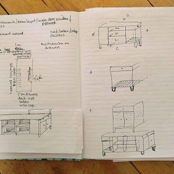 Kitchen island sketches