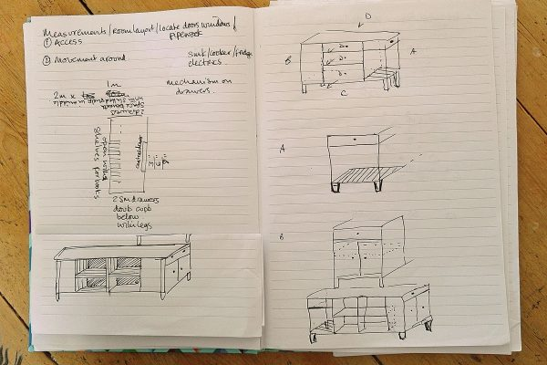 Kitchen island sketches