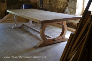 Large oak refectory table from Makers