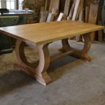 Handmade oak dining table for 6 people