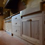 Bespoke oak kitchen units for a French manoir