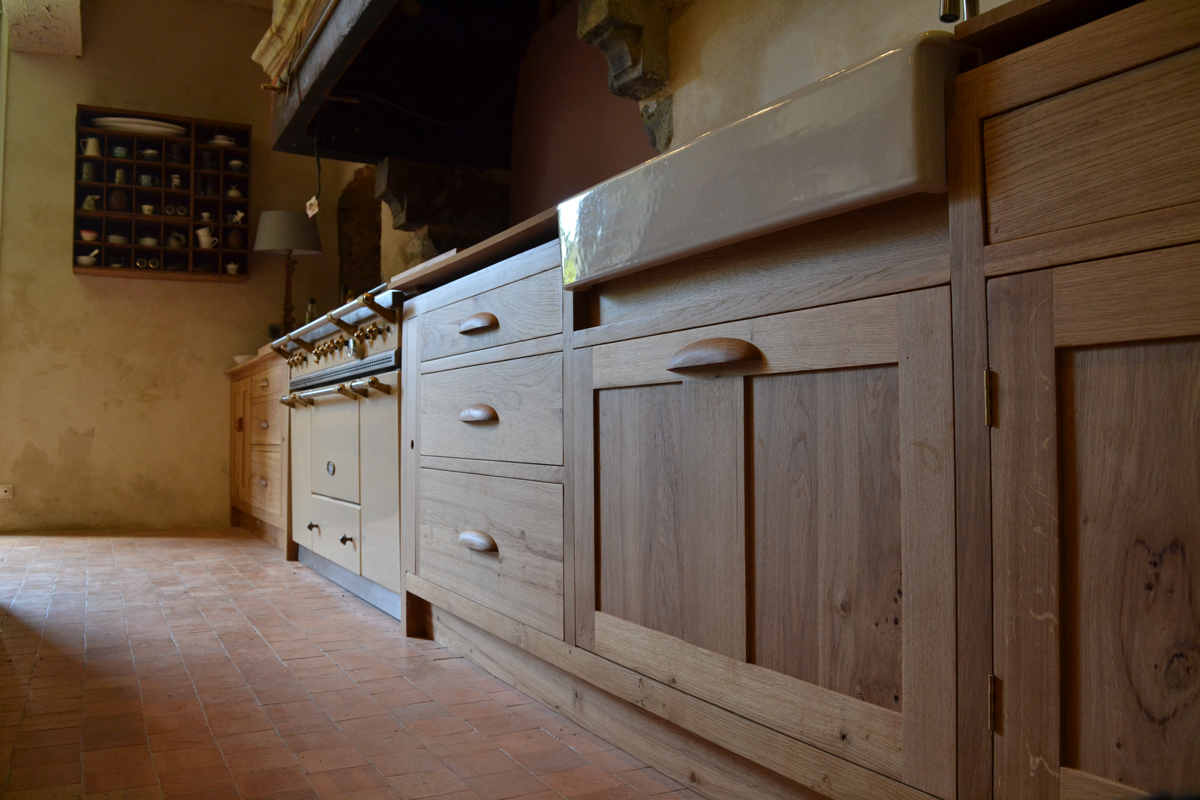 A Bespoke Oak Kitchen for a French Manoir