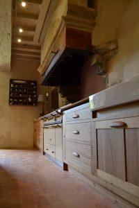 Bespoke oak kitchen units handmade in France