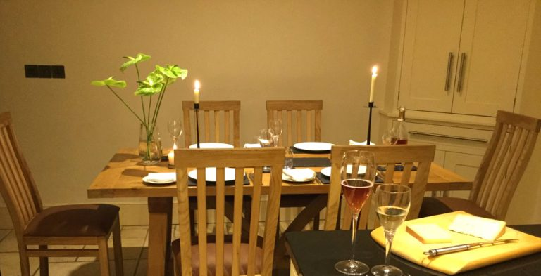 Bespoke dining table with handmade chairs