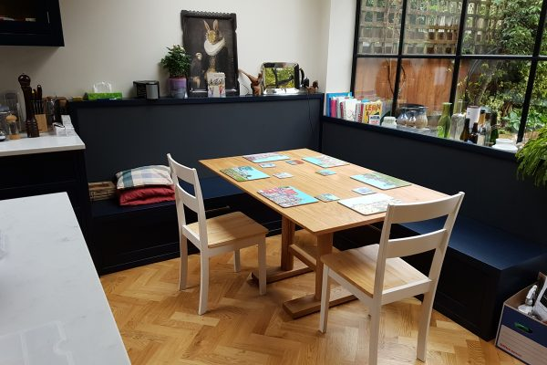 Oak dining table for London kitchen