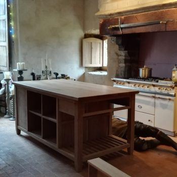 bespoke kitchen island for a manoir in France