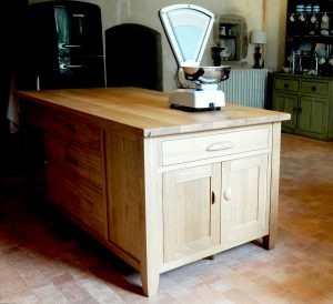 kitchen island handmade in France