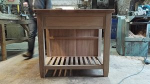 handmade kitchen island with drawers