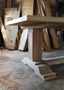 large handmade dining table