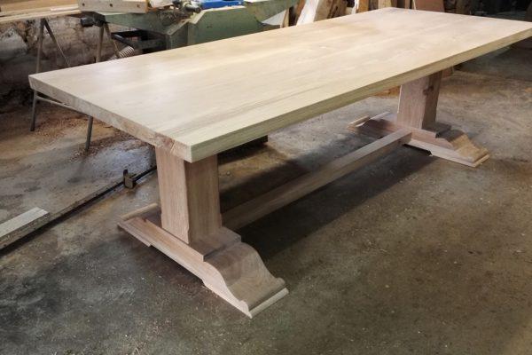 Bespoke pedestal refectory table