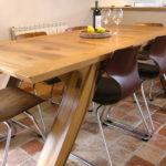 Handmade-oak-arch-leg-dining-table
