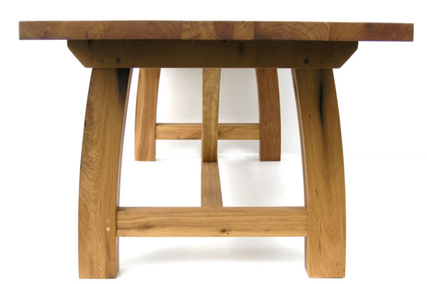 Contemporary oak refectory table France