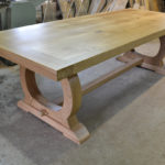 8 seat curved base bespoke refectory table