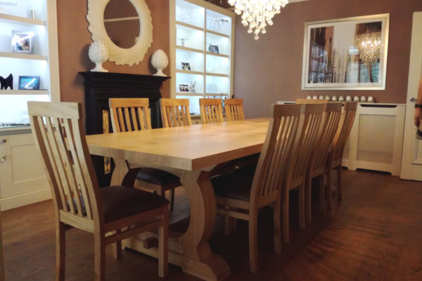 Large bespoke refectory table and chairs