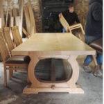 Bespoke table with chairs
