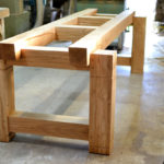 large oak beam table base
