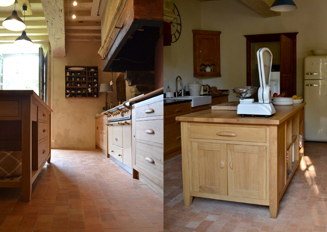 Bespoke kitchen island and kitchen cabinets