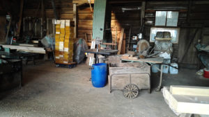 French sawmill with barrow