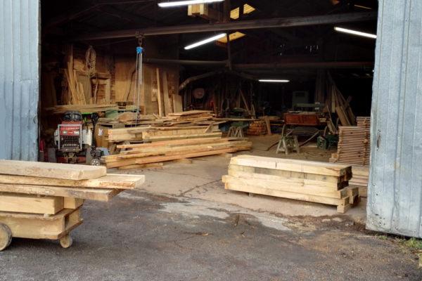 A view inside Marans oak sawmill